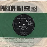A Hard Day's Night song became a single - it is also on The Beatles' third album from 1964