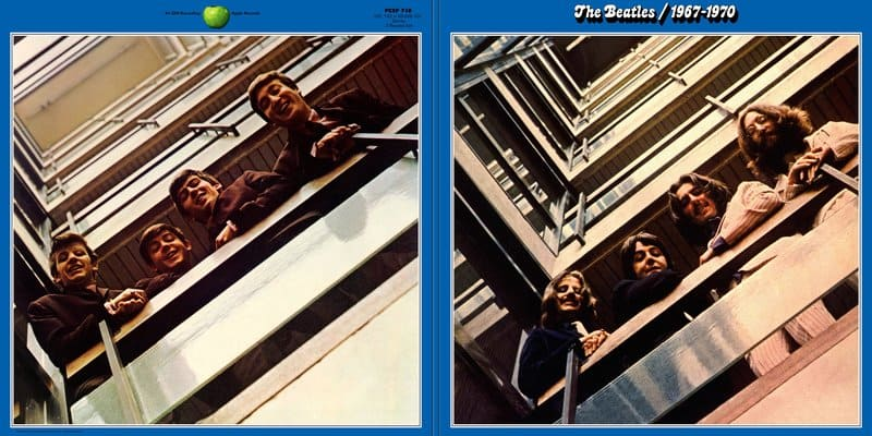 Blue Album 1967-1970 LP Covers from the 1973 release - Beatles Cavern Club and Forum