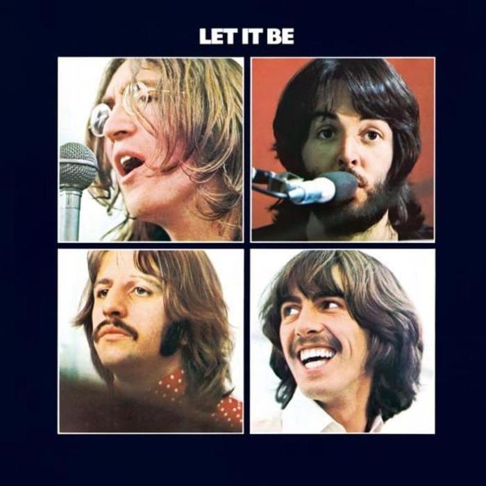 Let It Be (Album) cover shows John Lennon, Paul McCartney, Ringo Starr and George Harrison
