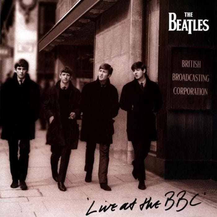 The Beatles Live At The BBC Album Cover - sepia 1994