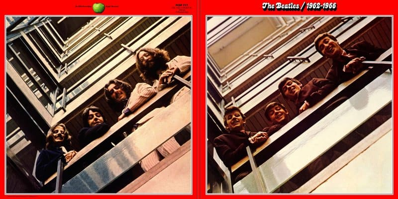 Red Album (1962-1966) LP Covers From The 1973 Release - Beatles Cavern Club and Forum