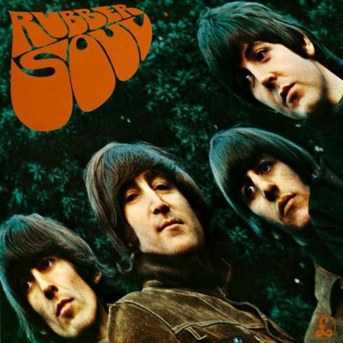Rubber Soul Album - The Beatles - cover art with full track listing
