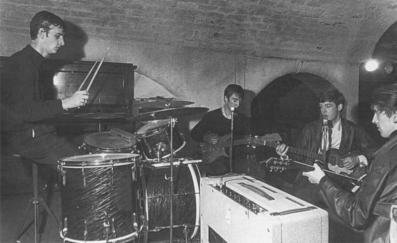 Ringo Starr with The Beatles at the Cavern Club