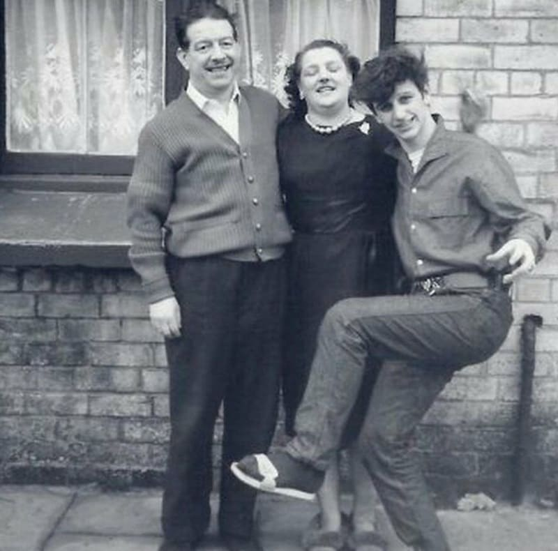 Ringo Starr at home with step-father and mother - Beatles Forum and Cavern Club