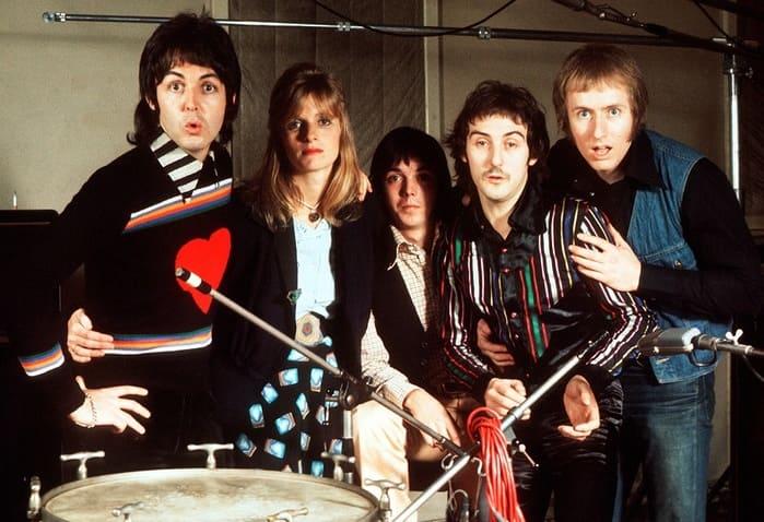 Paul McCartney and Wings with Linda Eastman