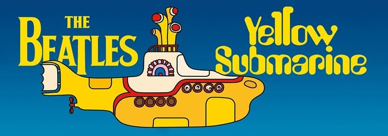 Yellow Submarine Film poster and banner - The Beatles Cavern Club and Fab Four Forum for Moptops