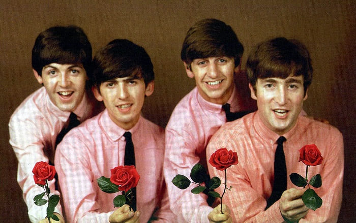 The Beatles Forum - Privacy Policy - Fab Four with roses