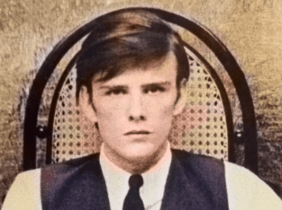 Stuart Sutcliffe - original bass guitarist for The Beatles - colour